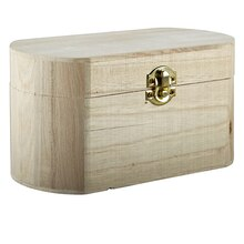 ArtMinds Unfinished Wood Box, Oval