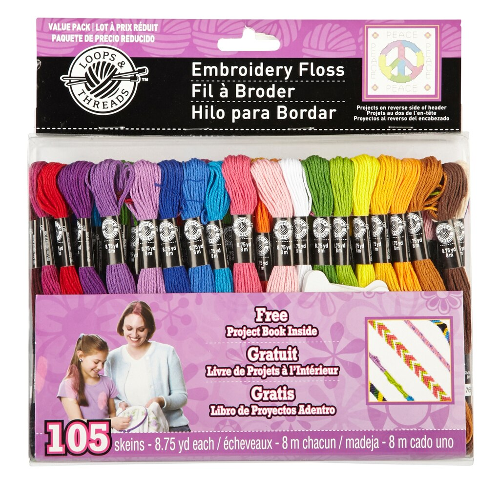 Loops Amp Threads Embroidery Floss Value Pack
