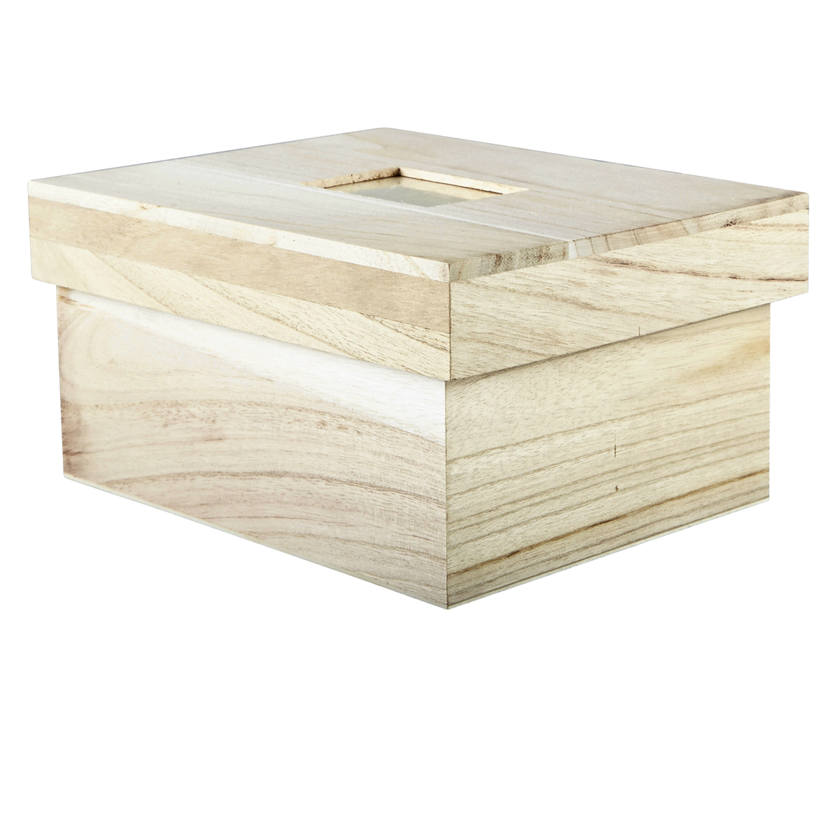 Michaels Favor Boxes With Lids : Artminds? wood photo box with lid