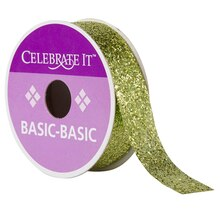 Celebrate It 360 Glitter Ribbon, Green