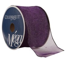 "Celebrate It Mega Shimmer Wired Ribbon, 2 1/2"", Eggplant"