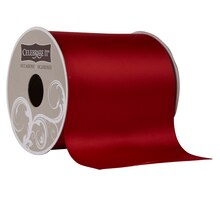 """Celebrate It Occasions Satin Ribbon, 4"""", Red"""