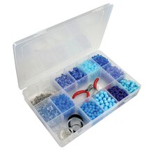 "Bead Landing Bead Storage Box With Removable Dividers, 10.74"" x 7"" x 1.6"""