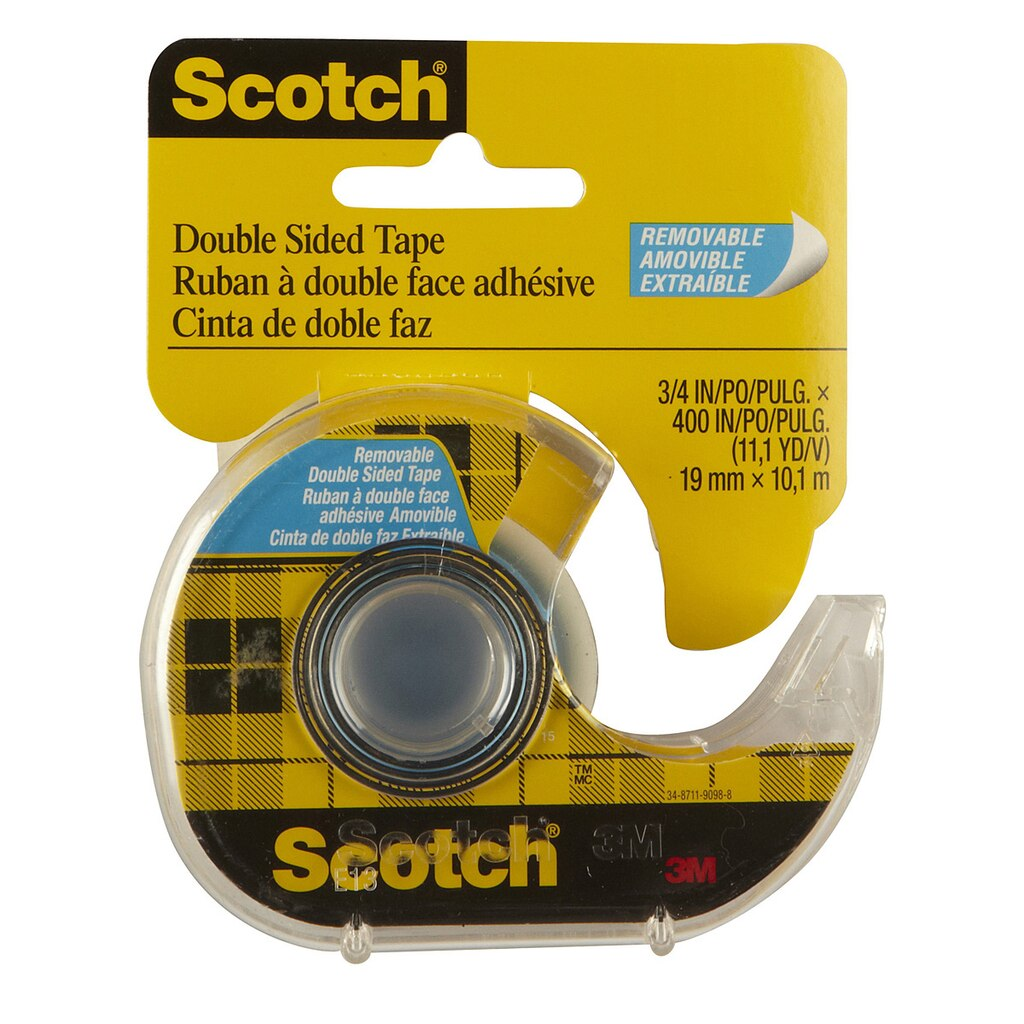 Scotch® Double Sided Removable Tape, 3/4\