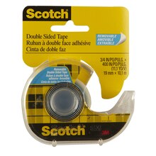 Scotch Double Sided Removable Tape, 3/4""