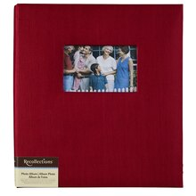 Recollections Faille Photo Album, 5 Pocket, Red