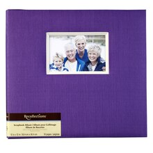 Recollections Faille Scrapbook Album, Purple