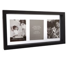 "Studio Décor Expressions Float Frame, Black 12"" x 6"""