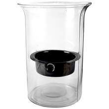 Ashland Hammered Glass Candle Holder with Insert
