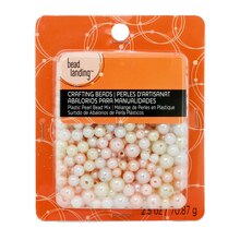 Bead Landing™ Plastic Pearl Bead Mix, 2.5 oz. White & Pink