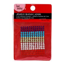 Bead Landing Adhesive Acrylic Jewels, Primary Colors