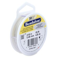 "Beadalon 19 Strand Bead Stringing Wire, Silver, .018"", 15 ft."