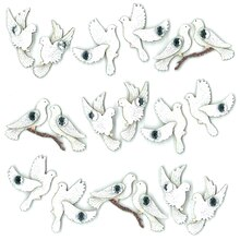Jolee's Boutique Wedding Doves Repeat Stickers