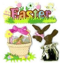 Jolee's Boutique Chocolate Easter Bunny Stickers