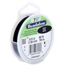 Beadalon® 7 Strand Bead Stringing Wire, 60 ft. Black Finish
