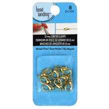 Bead Landing Gold Lobster Claw Clasp, 15 mm