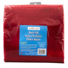 "Creatology Basic Felt, 36"" x 36"", Red"