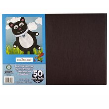"Creatology Construction Paper, 12"" x 18"" Black"