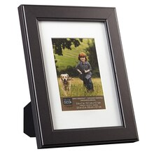 "Studio Décor Simply Essentials Flat Frame, Black with Mat 5"" x 7"""