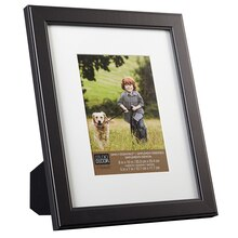 "Studio Décor Simply Essentials Flat Frame, Black with Mat 8"" x 10"""