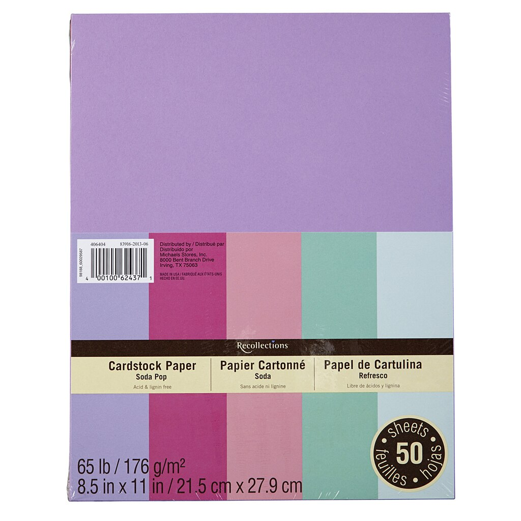 Cream colored cardstock paper studio - Recollections Soda Pop Cardstock Paper