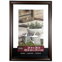 "Studio Décor Home Collection Brown & Black Frame, 24"" x 36"""