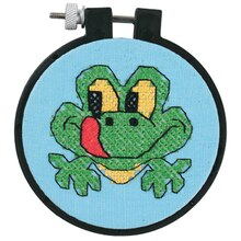 Dimensions Stamped Cross Stitch Kit, Friendly Frog