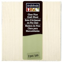"ArtMinds Clear Pine Craft Wood, 4.5"" x 4.5"""