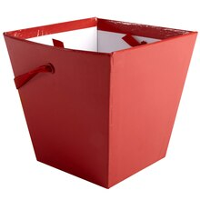 Solid Red Square Pail by Celebrate It