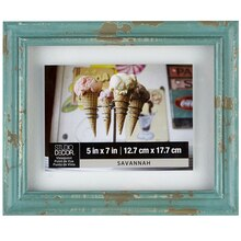 Studio Décor Viewpoint Savannah Blue Wood Float Frame