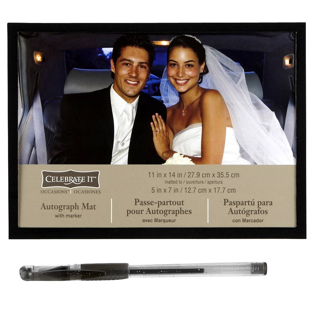 Studio dcor signature frame with marker celebrate it occasions wedding autograph mat jeuxipadfo Images