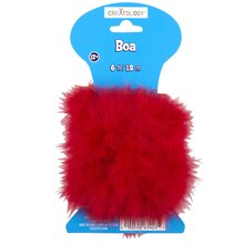 Creatology Marabou Craft Boa, Red