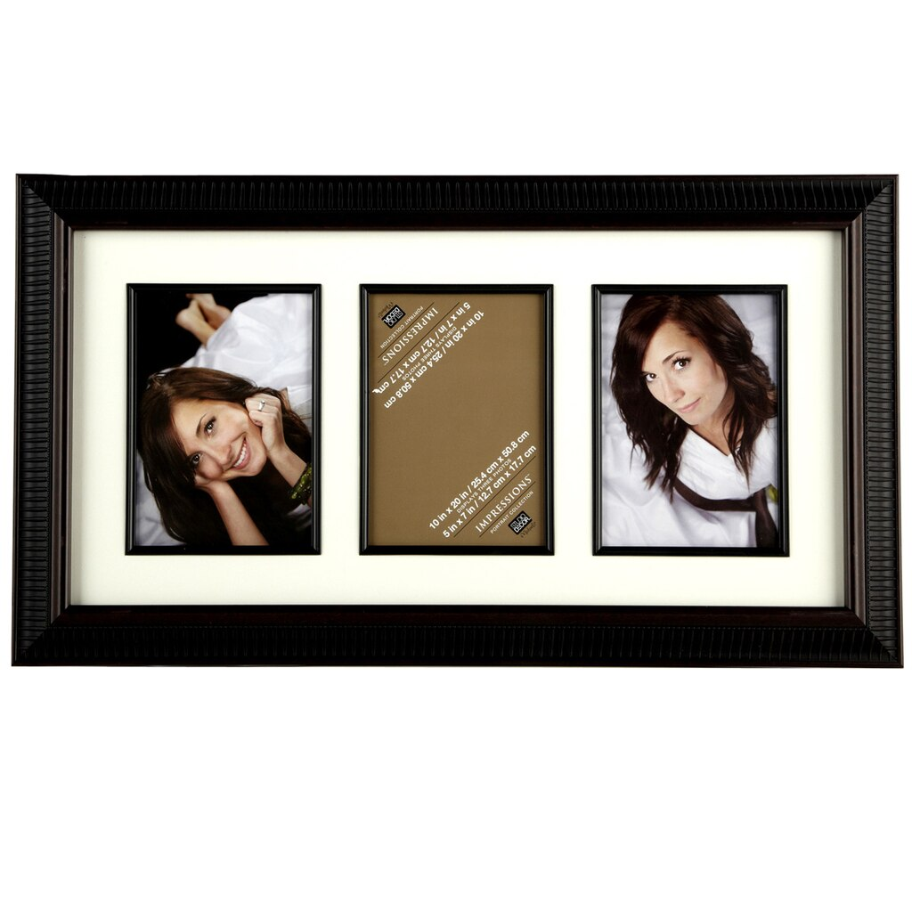 Ribbed 3-Opening Collage Frame, 5\