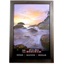 "Home Collection Distressed Frame, Black Espresso 24"" x 36"""