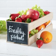 """Freshly Picked"" Chalkboard Crate"