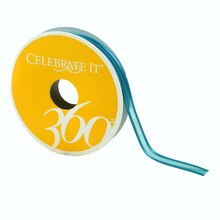 "Celebrate It 360 Sheer Ribbon, 3/8"", Turquoise"