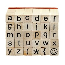 Recollections Wood Stamp Set, Small Lower Case Alphabet