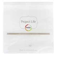 "Project Life Page Protectors, 12"" x 12"""
