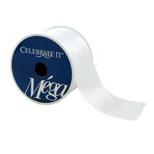 "Celebrate It Mega Satin Ribbon, 2 1/2"", White"