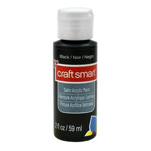 Satin Acrylic Paint by Craft Smart, Black