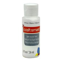 Satin Acrylic Paint by Craft Smart, White