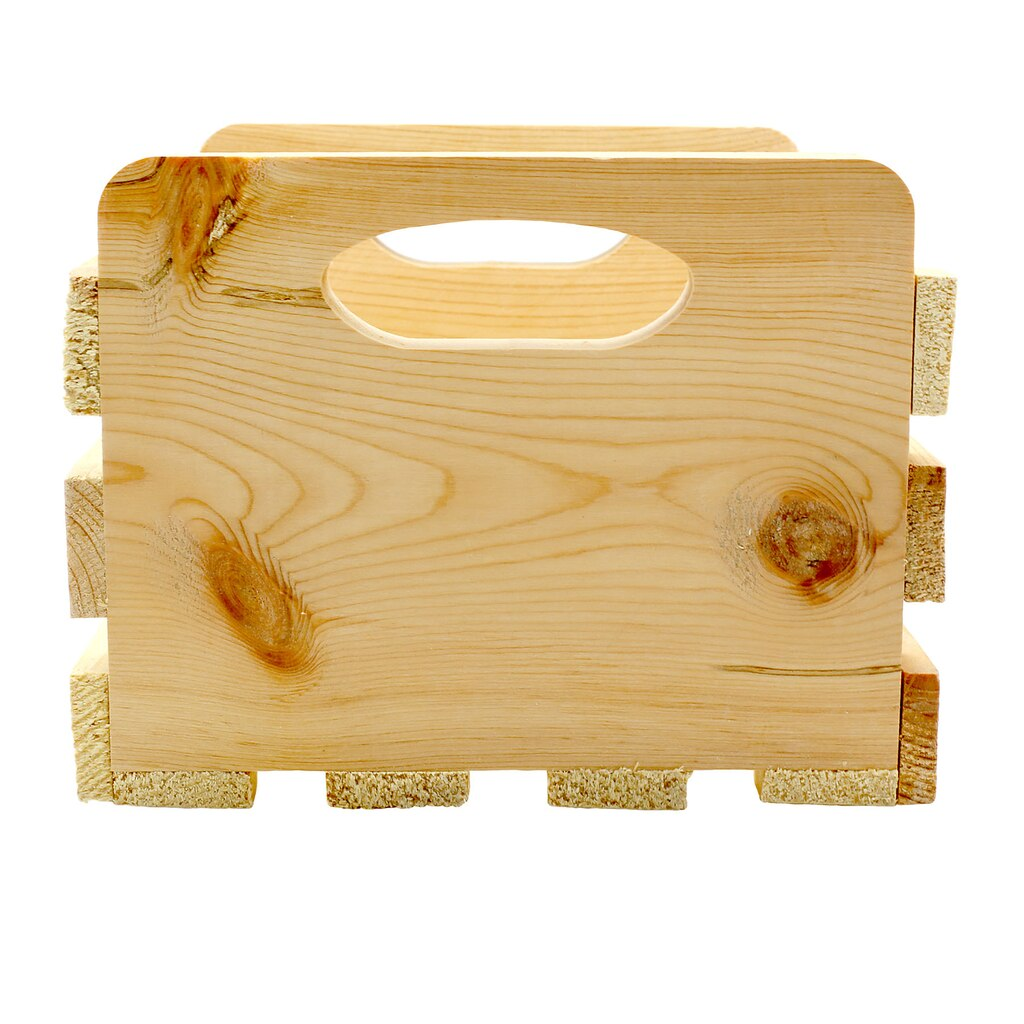 Artminds small wood crate with cutout handles for Where do i find wooden crates