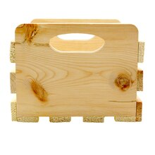 ArtMinds Small Wood Crate With Cutout Handles