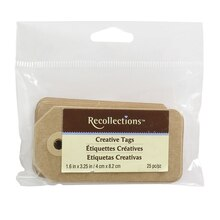 Recollections Creative Tags, Kraft, 25 Count