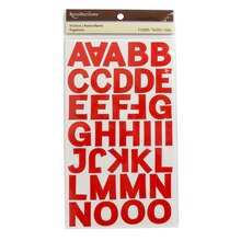 Recollections Block Alphabet Stickers, Candy Apple