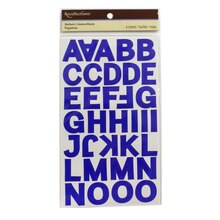 Recollections Block Alphabet Stickers, Sapphire