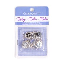 Baby Feet Flat Round Baby Charms by Celebrate It