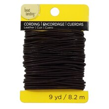 Bead Landing Leather Cord 1mm and 2mm Brown