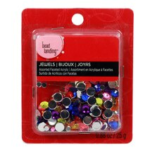 Bead Landing Assorted Faceted Acrylic Jewels, Round