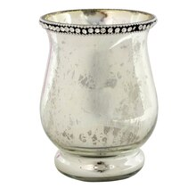 Ashland Jeweled Mercury Glass Candle Holder, 5.5""